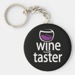 Catador del vino llavero
