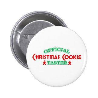 Catador oficial de la galleta del navidad pin