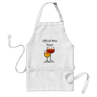 Catador oficial del vino delantal