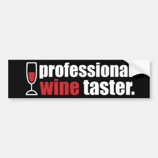 Catador profesional del vino etiqueta de parachoque