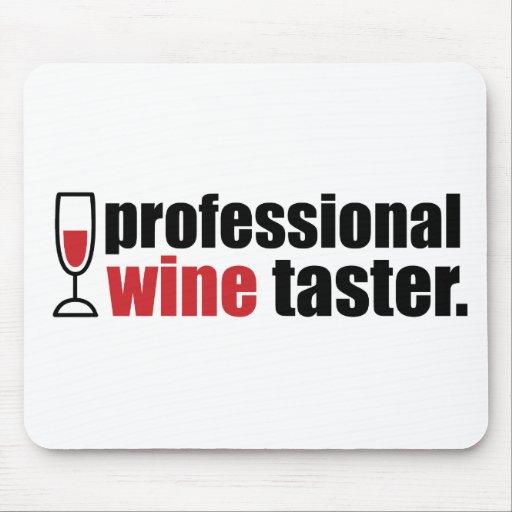 Catador profesional del vino tapete de ratón