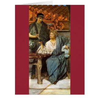 Catador romano 1861 del vino tarjeta de felicitación grande