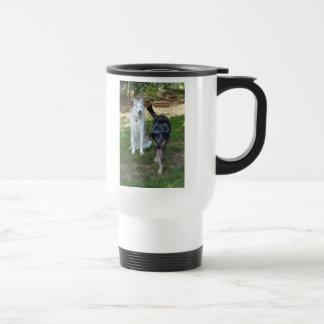 Catahoula and Ausky Dog Buddies 15 Oz Stainless Steel Travel Mug
