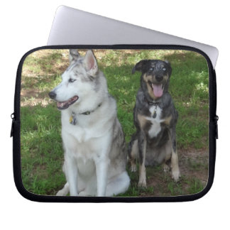 Catahoula and Ausky Dog Friendship Laptop Sleeve