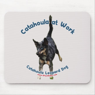 Catahoula Dog at Work Mouse Pad