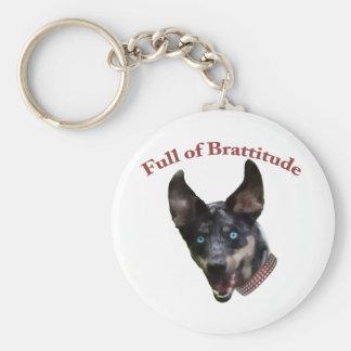 Catahoula Dog Brattitude Basic Round Button Keychain