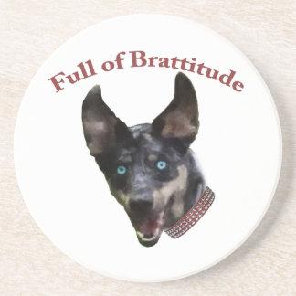 Catahoula Dog Brattitude Drink Coaster