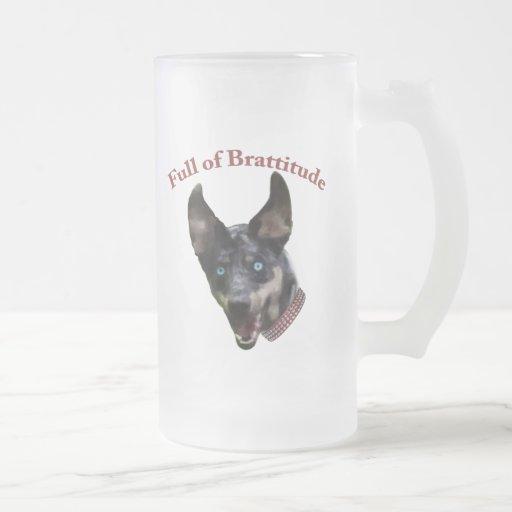 Catahoula Dog Brattitude 16 Oz Frosted Glass Beer Mug