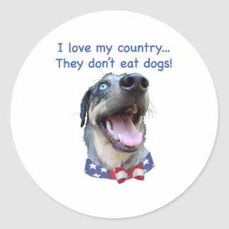 Catahoula Don't Eat Dogs Classic Round Sticker