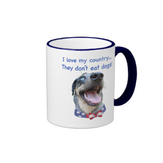 Catahoula Don't Eat Dogs Ringer Coffee Mug