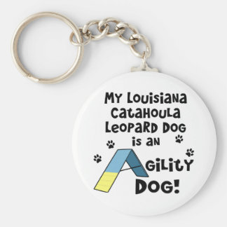 Catahoula Leopard Dog Agility Dog Keychain