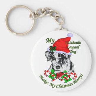 Catahoula Leopard Dog Christmas Gifts Keychain