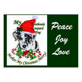 Catahoula Leopard Dog Christmas Gifts Large Business Card