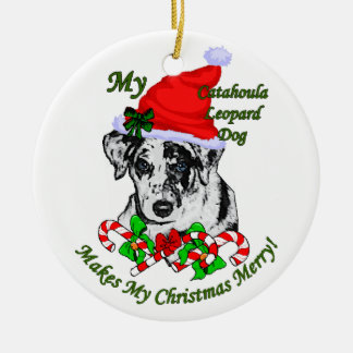 Catahoula Leopard Dog Christmas Gifts Ornament