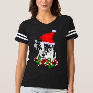 Catahoula Leopard Dog Christmas Merry T-shirt