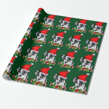 Christmas Themed Catahoula Leopard Dog Christmas Wrapping Paper