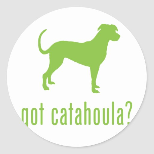 Catahoula Leopard Dog Classic Round Sticker