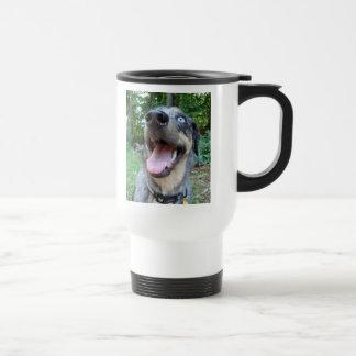 Catahoula Leopard Dog Face 15 Oz Stainless Steel Travel Mug