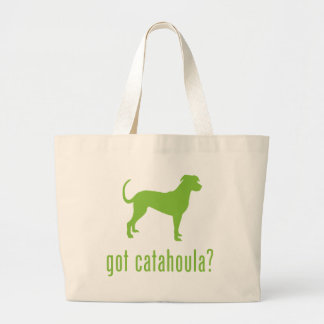 Catahoula Leopard Dog Large Tote Bag