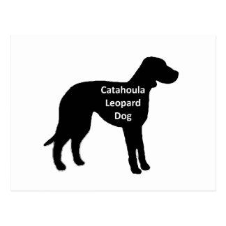 catahoula leopard dog name silo black.png postcard