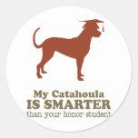Catahoula Leopard Dog Round Stickers