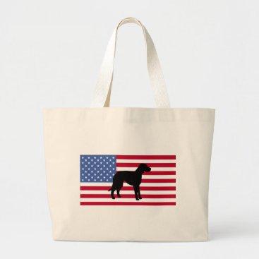 USA Themed catahoula leopard dog silo usa-flag.png large tote bag