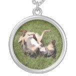 Catahoula Leopard Hog Dog Rolling in Grass Custom Jewelry