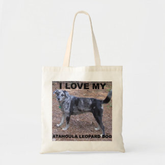 catahoula love with pic.png budget tote bag
