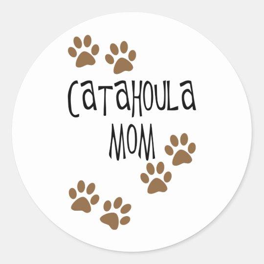 Catahoula Mom Classic Round Sticker