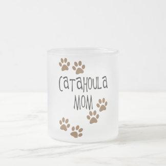 Catahoula Mom Frosted Glass Coffee Mug