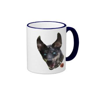 Catahoula Pawprint Dog Heart Ringer Coffee Mug