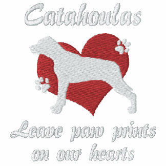 Catahoulas Leave Paw Prints Embroidered T-Shirt