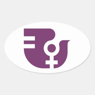 Catalan Associació of Dona Oval Sticker