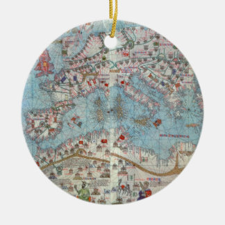 Catalan Atlas: Detail of North Africa and Europe, Ceramic Ornament