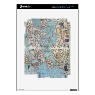 Catalan Atlas: Detail of North Africa and Europe, iPad 3 Skin