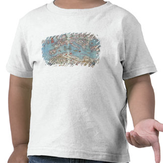 Catalan Atlas: Detail of North Africa and Europe, Tee Shirt