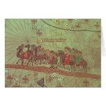 Catalan Atlas, detail showing Greeting Cards