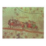 Catalan Atlas, detail showing Post Card