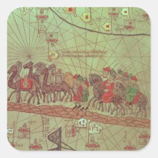 Catalan Atlas, detail showing Square Sticker