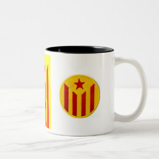 Catalan cup! Catalan and estelada Senyera! Two-Tone Coffee Mug