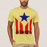 Catalan Estelada Flag T-shirt at Zazzle
