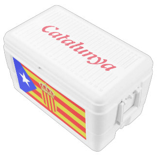 Catalan flag chest cooler