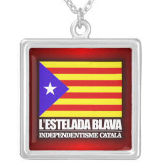 Catalan Independence Silver Plated Necklace