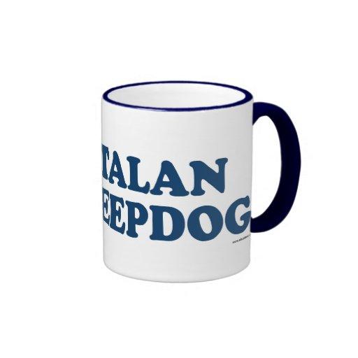 Catalan Sheepdog Blue Mugs