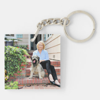 Catalan Sheepdog - Peppa Double-Sided Square Acrylic Keychain