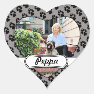 Catalan Sheepdog - Peppa Heart Sticker