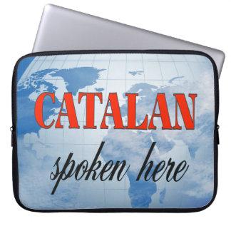 Catalan spoken here cloudy earth computer sleeve