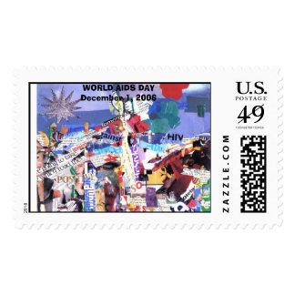 cataldicollage, WORLD AIDS DAYDecember 1, 2006 Postage Stamp