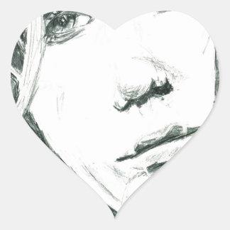 Catalejo Pegatina En Forma De Corazón