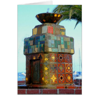 Catalina Fountain Greeting Card